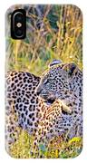 Green Eyed Leopard IPhone Case