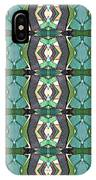 Green Geometric Abstract Pattern IPhone Case