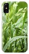 Green Grass After Rain IPhone Case