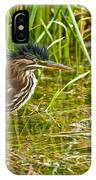 Green Heron Pictures 545 IPhone Case