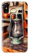 Green Hurricane Lamp In General Store IPhone Case