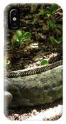 Green Inguana In The Shrubs I IPhone Case