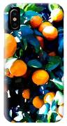 Green Leaves And Mature Oranges On The Tree IPhone Case