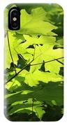 Green Leaves Canvas IPhone Case