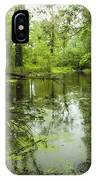 Green Blossoms On Pond IPhone Case