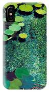 Green Shimmering Pond IPhone Case