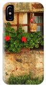 Green Shutters And Window In Chianti IPhone Case