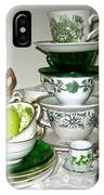 Green Teacups  IPhone Case