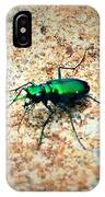 Green Tiger Beetle IPhone Case