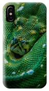Green Tree Python Curled IPhone Case