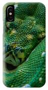 green tree python Macro IPhone Case