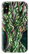 Green Tree With Pink Watercolor IPhone Case