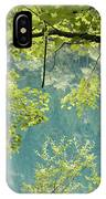 Green Trees Over Blue Water IPhone Case