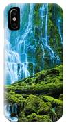 Green Waterfall IPhone Case