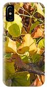 Green Yellow And Dry Leaves IPhone Case