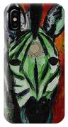 Green Zebra Stripes  IPhone Case