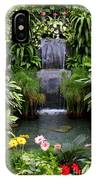 Greenhouse Garden Waterfall IPhone Case