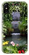 Greenhouse Garden Waterfall IPhone Case