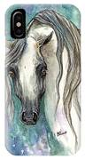 Grey Arabian Horse 2013 11 26 IPhone Case