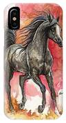 Grey Arabian Horse 2014 01 12 IPhone Case