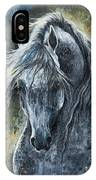 Grey Arabian Horse Oil Painting 2 IPhone Case