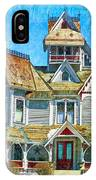 Grey Gables Mansion IPhone Case