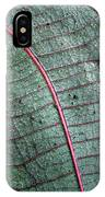 Grey Leaf With Purple Veins 2 IPhone Case