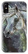 Grey Pony With Long Mane Oil Painting IPhone Case