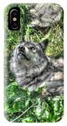 Grey Wolf Dreaming IPhone X Case
