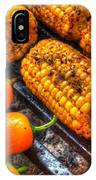 Grilling Corn And Peppers IPhone Case