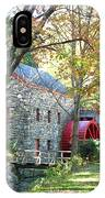 Grist Mill In Fall IPhone Case