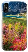 Grizzly Bear Fireweed IPhone Case by Tim Newton