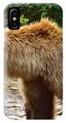 Grizzly Bear Very Close In Moraine River In Katmai National Preserve-ak IPhone Case