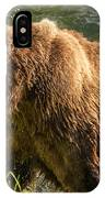 Grizzly On The River Bank IPhone Case