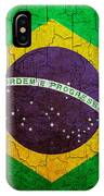 Grunge Brazil Flag IPhone Case
