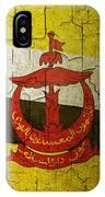 Grunge Brunei Flag IPhone Case