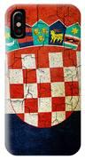 Grunge Croatia Flag IPhone Case