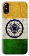 Grunge India Flag IPhone Case