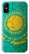 Grunge Kazakhstan Flag IPhone Case