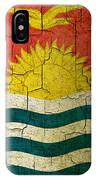 Grunge Kiribati Flag IPhone Case