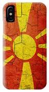 Grunge Macedonia Flag IPhone Case