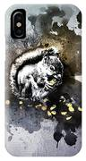 Grungy Hungry Squirrel  IPhone Case