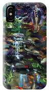 Guardian Angel And Koi Pond IPhone Case