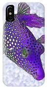 Guinea Fowl Puffer Fish In Purple IPhone Case