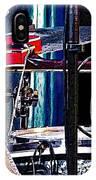 10261 Seasick Steve's Guitar On Drum IPhone Case