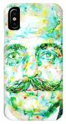 Gurdjieff- Watercolor Portrait IPhone Case