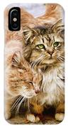 Gutter Kitties Five IPhone Case