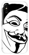 Guy Fawkes Face Original Pop Art Painting IPhone Case