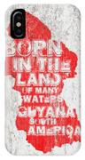 Guyana Map IPhone Case