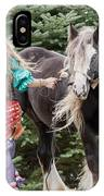 Gypsy Vanner Dance IPhone Case